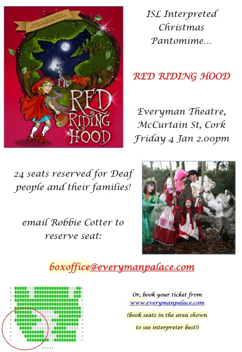 Red Riding Hood - ISL interpreter at Cork Panto!