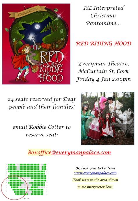Red Riding Hood - ISL interpreter at Cork Panto!
